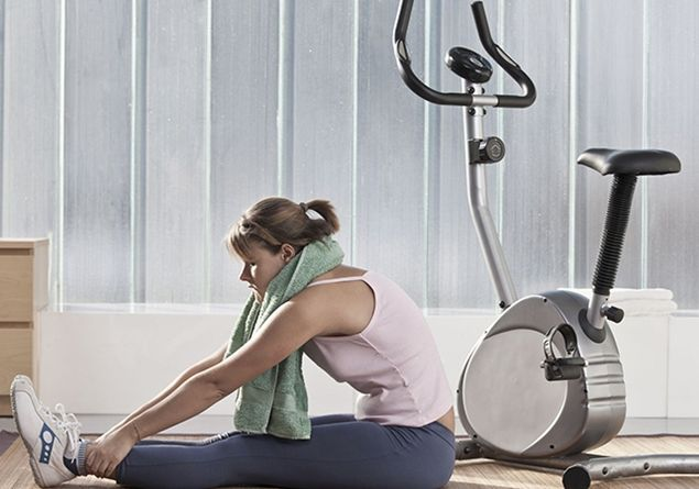Home fitness con cyclette e tapis roulant
